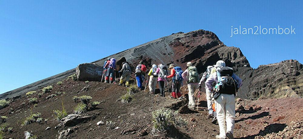 トレッキング Mt.RinjaniTreck